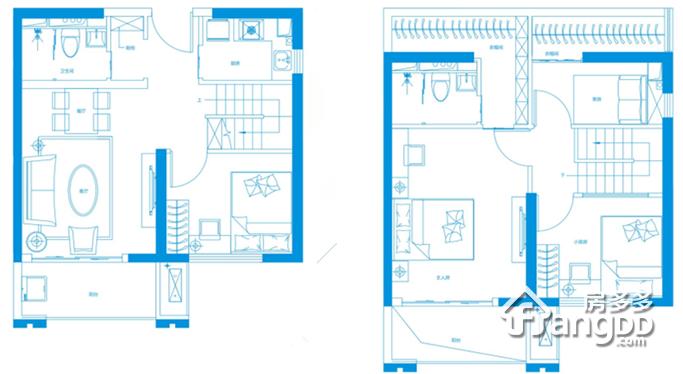 60平米公寓 3室2厅2卫60㎡