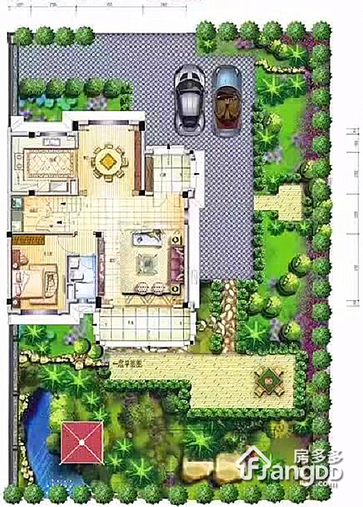 花溪碧桂园4室4厅4卫户型图