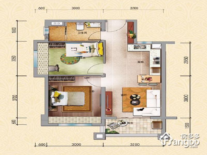 碧桂园·海南珊瑚宫殿 2室2厅1卫