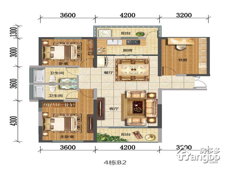 B2 3室2厅2卫134.16㎡