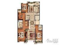 首开璞瑅公馆4室2厅3卫户型图