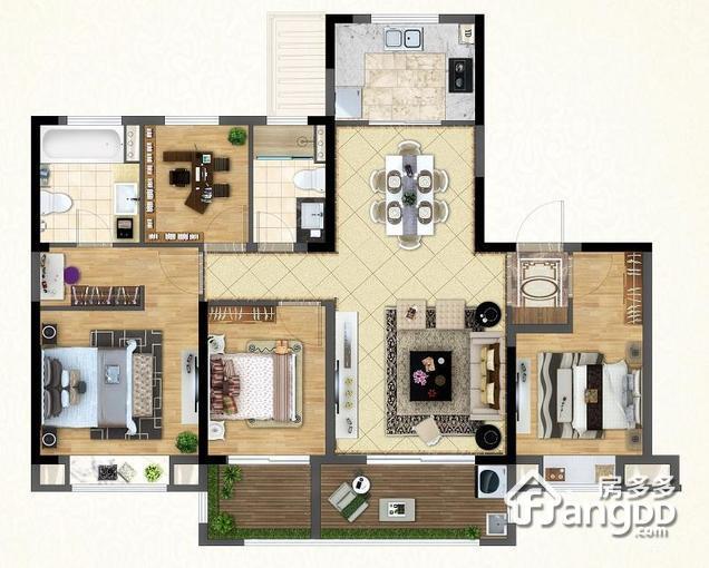 花园洋房139平 4室2厅2卫139㎡