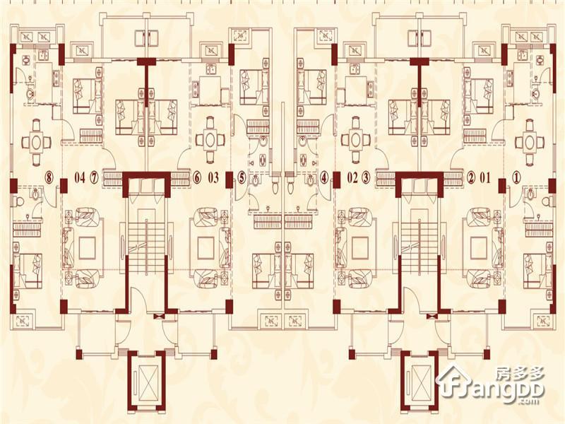 红树湾二期3室2厅2卫户型图