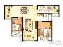保利·海上五月花2室2厅1卫户型图