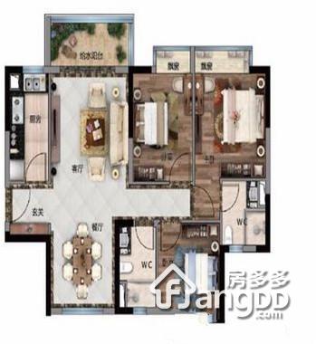 碧桂园天誉 3室2厅2卫