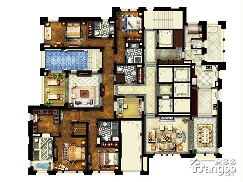 行政平墅D-3/5 4室3厅5卫360㎡