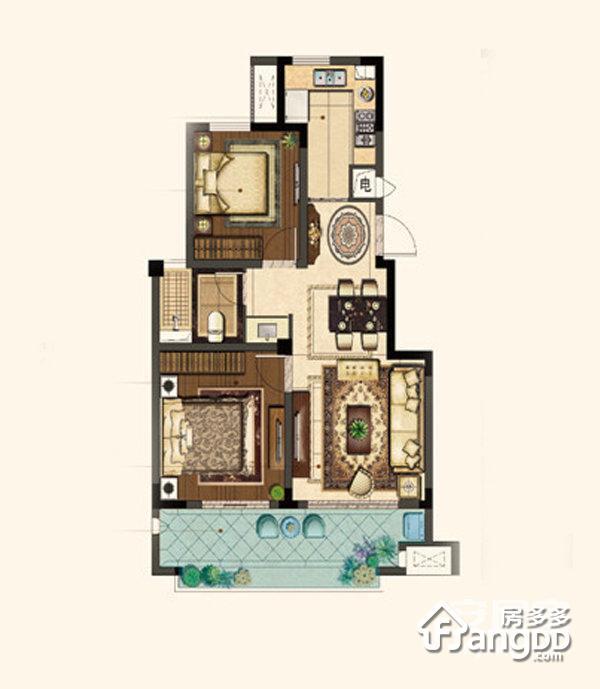 景山玫瑰园 2室2厅1卫