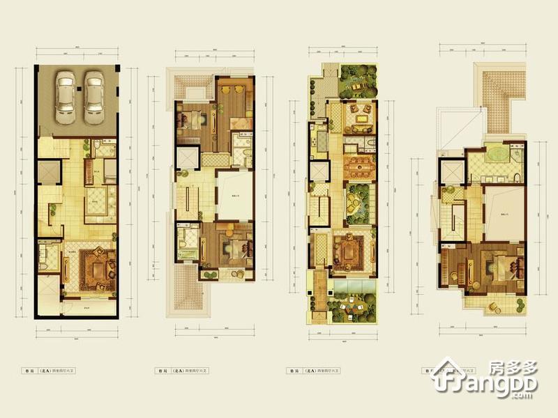燕西华府4室4厅6卫户型图