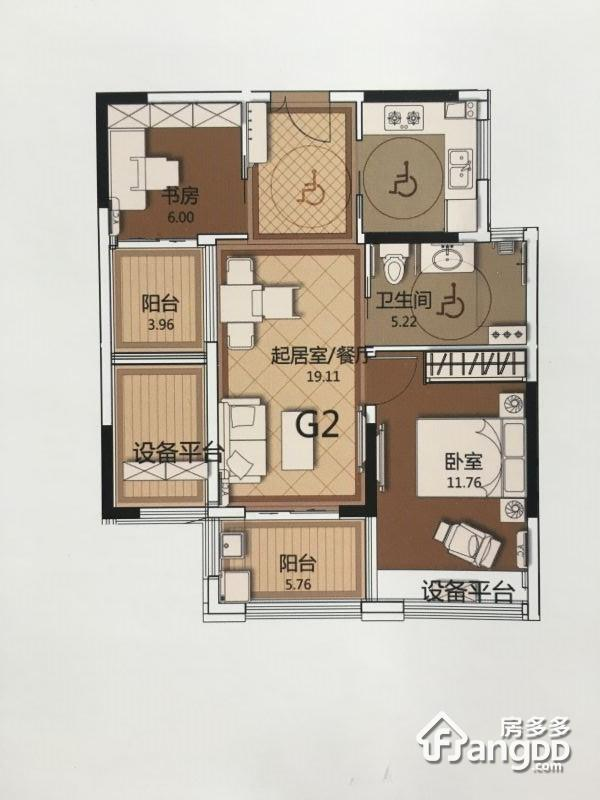 G2 2室1厅1卫70㎡
