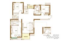 英地金台府邸3室2厅2卫户型图