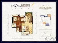 鸿通·海上威尼斯3室2厅2卫户型图