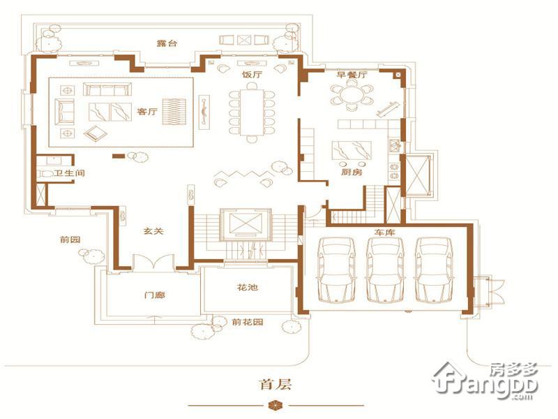 恒大丽宫5室2厅3卫户型图