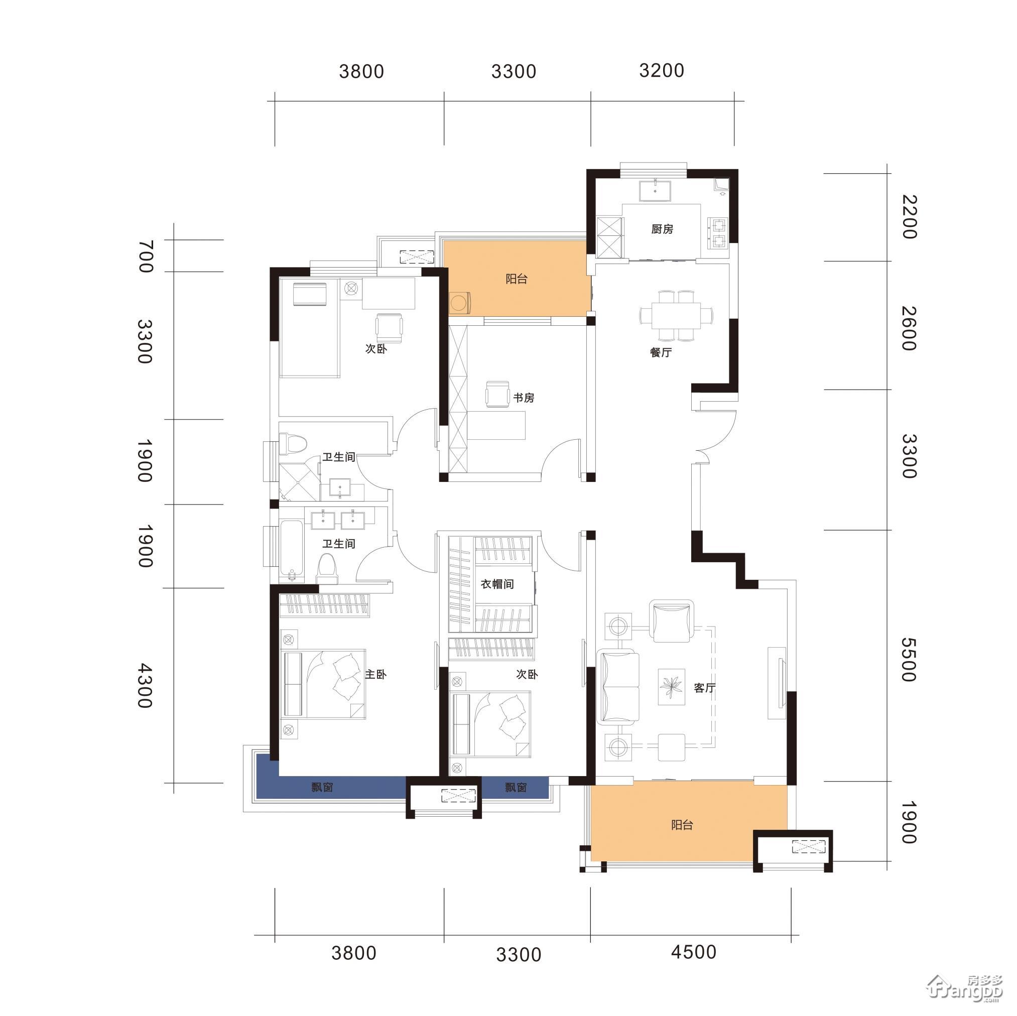 A13-150 4室2厅2卫150㎡