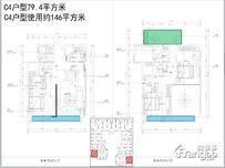 三盛滨江国际4室2厅3卫户型图