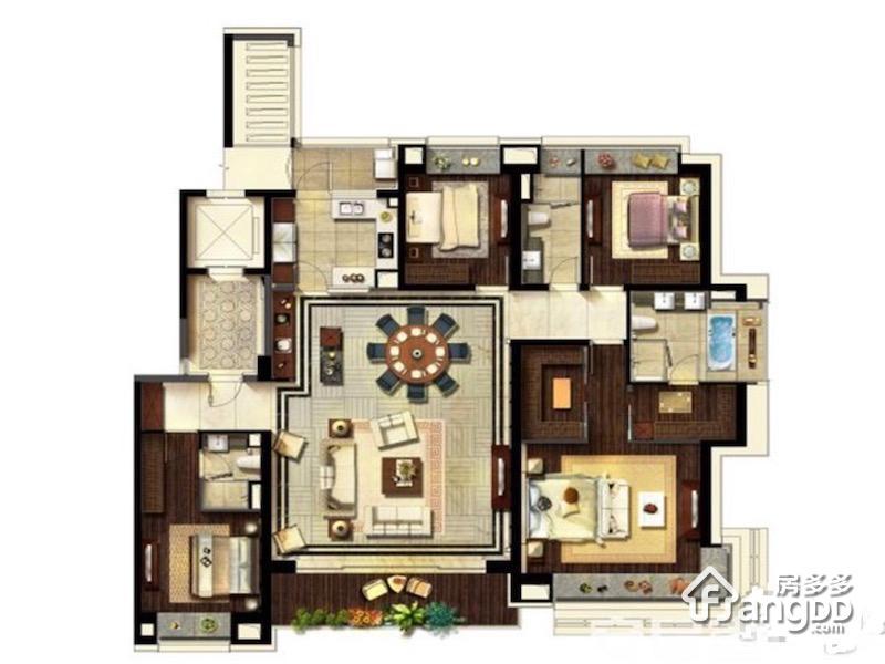 240平米 4室2厅2卫240㎡