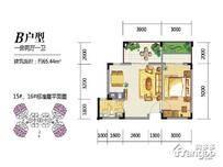 兴隆太阳谷温泉城1室2厅1卫户型图