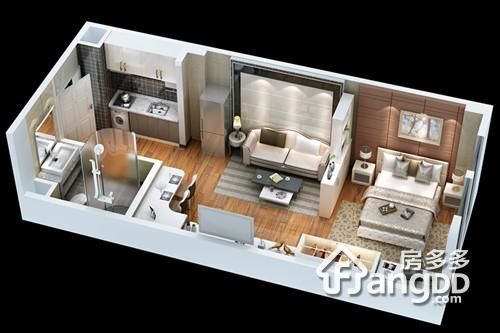 公寓-1 1室1厅1卫42㎡