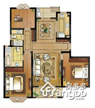 138户型 3室2厅2卫138㎡