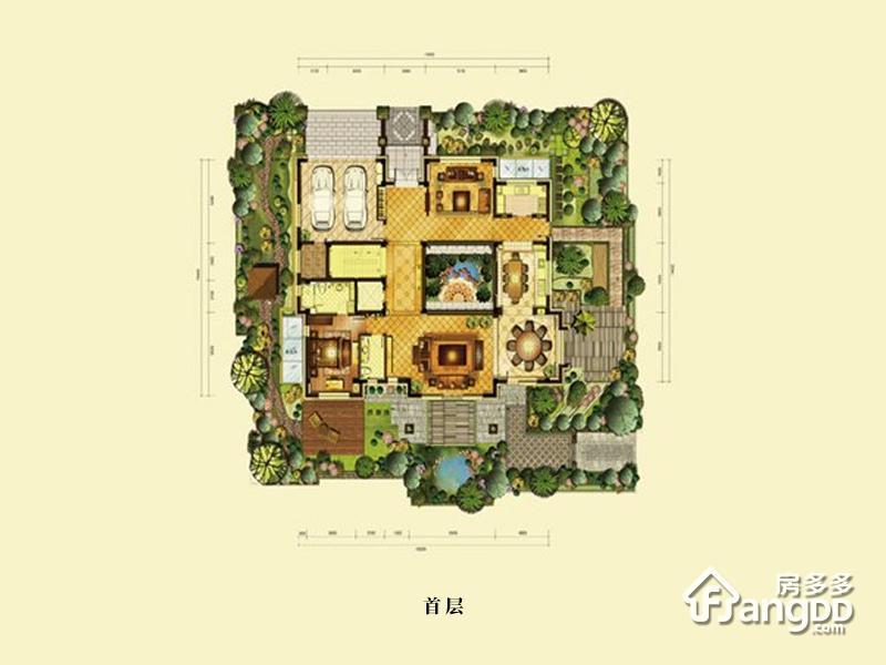 燕西华府5室6厅8卫户型图