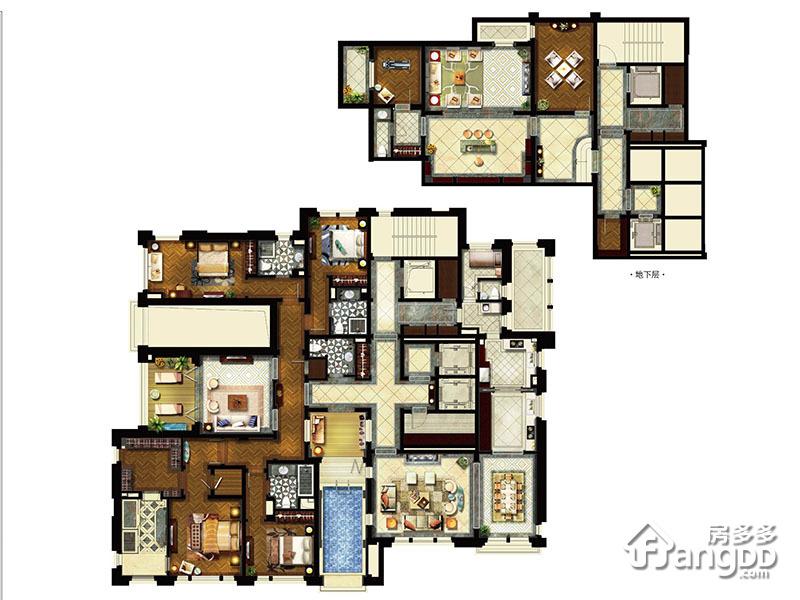 行政平墅D-2/4 5室3厅5卫360㎡