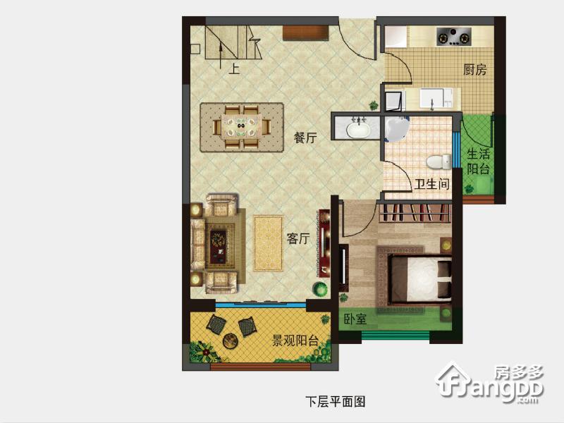 A3;103+56㎡ 4室2厅3卫103㎡