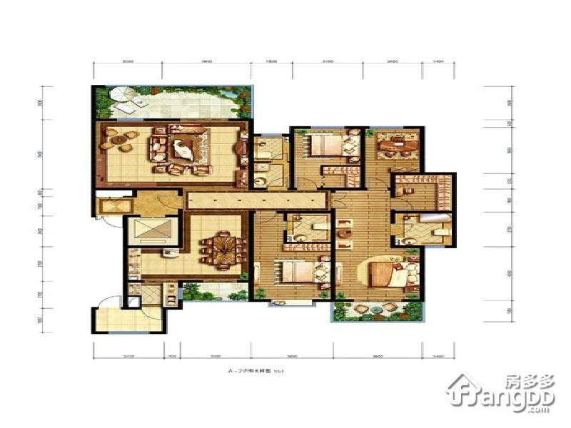 石鼓天玺台4室2厅2卫户型图