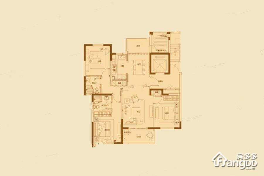 金浩园3室2厅2卫户型图