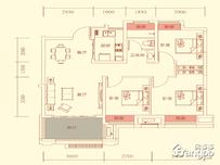 华盛南院3室2厅1卫户型图