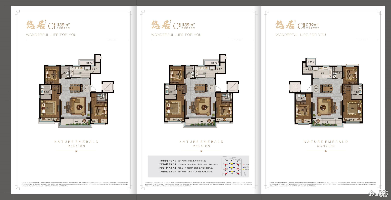 金科博翠府3室2厅3卫户型图