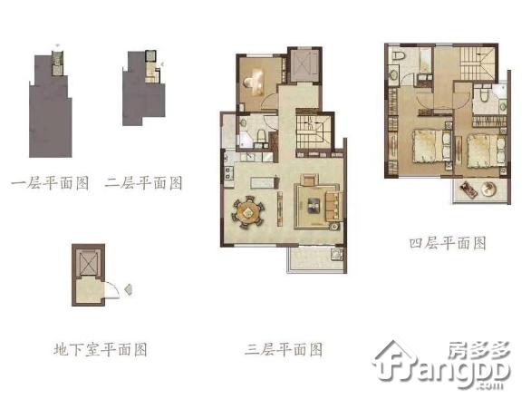 新城璞樾门第3室2厅3卫户型图