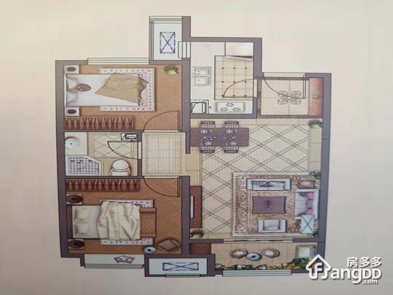 天津新城樾风华2室2厅1卫户型图