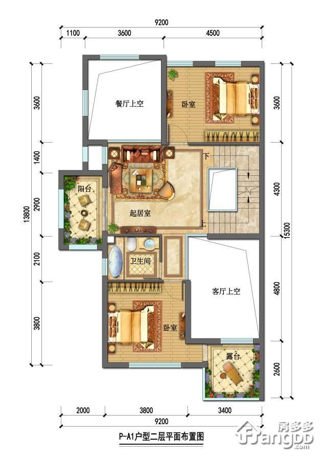 石塘首府2室1厅1卫户型图