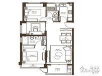 新城西岸公园3室2厅2卫户型图
