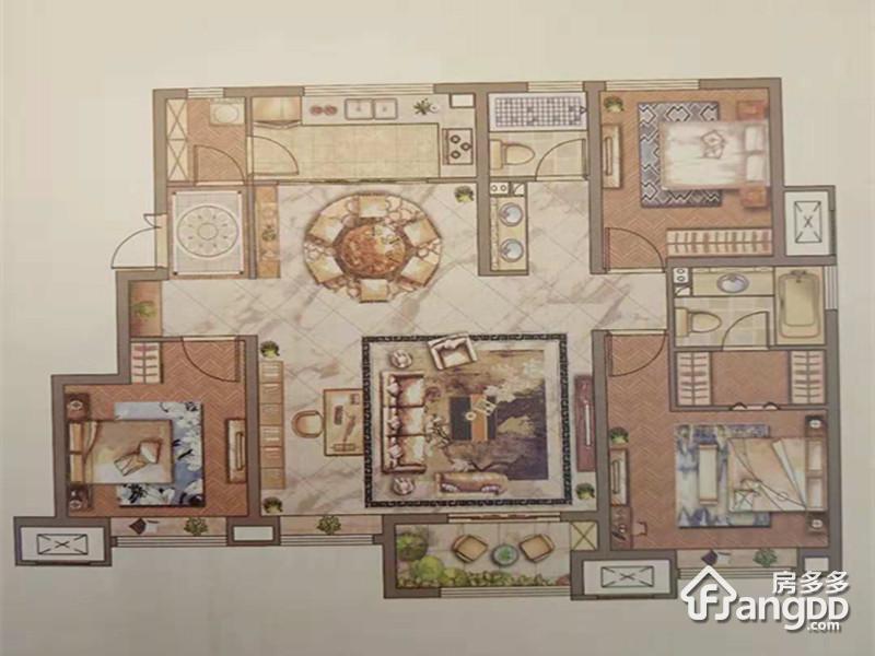 天津新城樾风华3室2厅2卫户型图