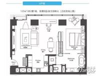 新天地一品苑1室2厅1卫户型图