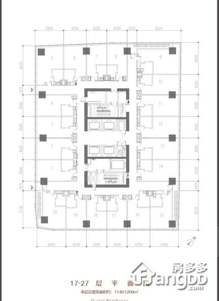 绿地468星曜1室1厅1卫户型图