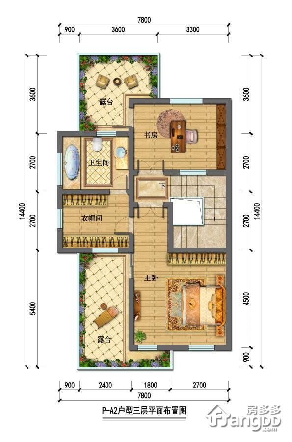 石塘首府3室1厅1卫户型图