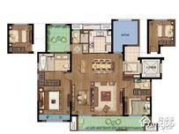 新江北 孔雀城4室2厅2卫户型图