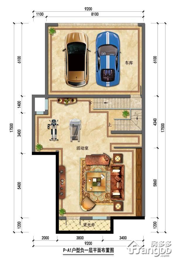 石塘首府3室2厅2卫户型图