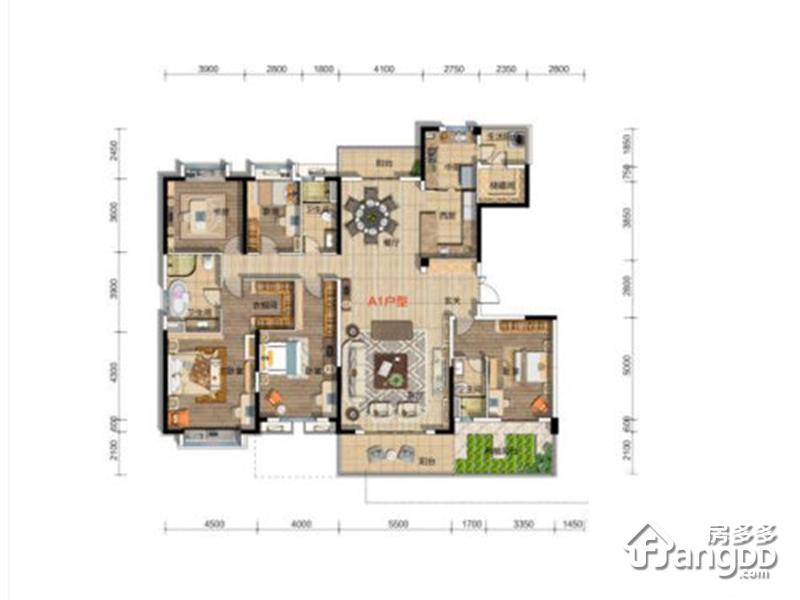 碧桂园•凤凰城5室3厅2卫户型图
