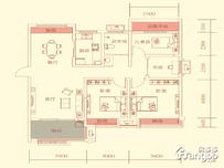 华盛南院4室2厅1卫户型图
