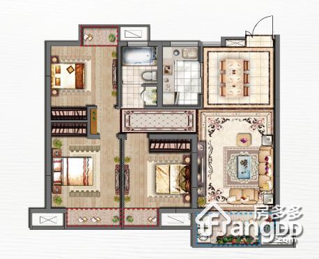 中南·熙悦3室2厅1卫户型图