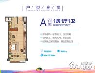 中海神州半岛阿拉莫纳小镇(万宁)1室1厅1卫户型图