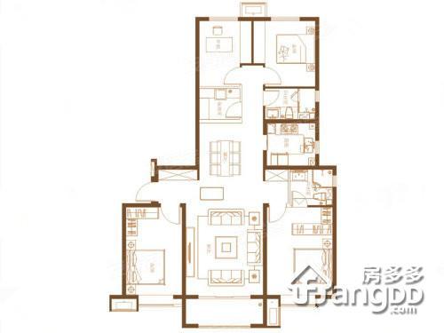 宝鸡富力湾4室2厅2卫户型图