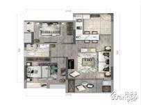 绿地梓湾国际康养度假区2室1厅1卫户型图