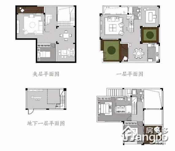 新城璞樾门第4室2厅3卫户型图