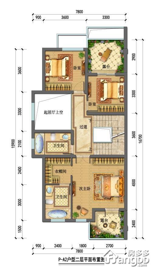 石塘首府4室2厅2卫户型图
