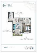 明天华城三期1室2厅1卫户型图