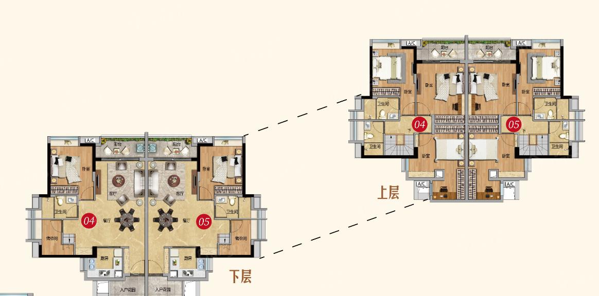 越秀星汇云城4室2厅3卫户型图