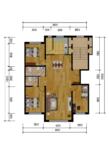 金林小镇3室2厅2卫户型图